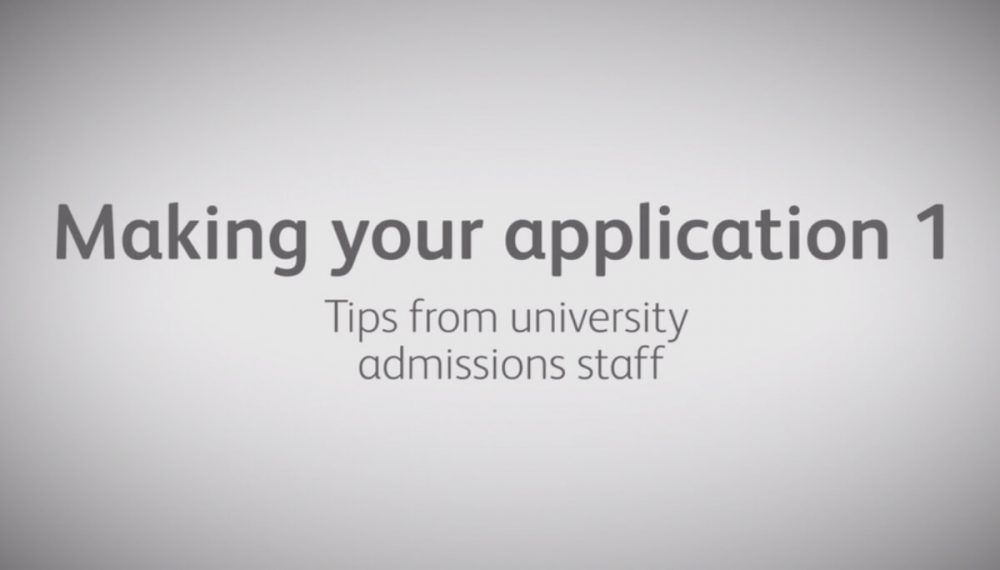 What do admissions staff look for in an application?
